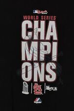 MLB St. Louis Cardinals 2011 World Series Champions LS T-Shirt, Black, Youth M
