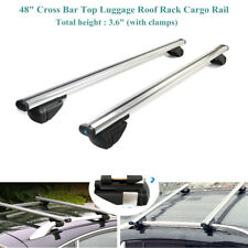 "48""Anti-theft Cross Bar Top Luggage Roof Rack Cargo Rail Car SUV Aluminum Silver"