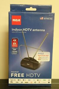 NEW RCA Indoor HDTV Antenna Supports 1080 4K & 8K Compatible Free Signal Finder