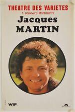 Affiche Théâtre des Variétés Paris 1975 JACQUES MARTIN