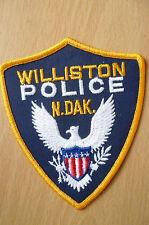 Patches: WILLISTON NORTH DAKOTA N DAK POLICE PATCH (NEW,apx.5x4)