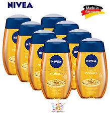 8 x NIVEA Natural Pampering Shower Oil For Dry Skin 200ml 6.7 fl. oz