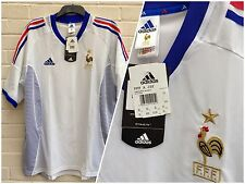 -NEW WITH TAGS- FRANCE OFFICIAL ADIDAS 2002 INTERNATIONAL AWAY FOOTBALL SHIRT XL