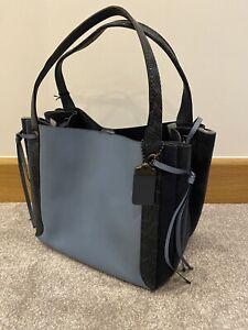Brand New Coach Harmony Hobo Colourblock Bag With Snakeskin Detail Slate Pewter