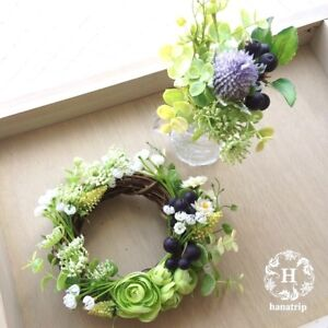 JAPAN DIY KIT rose wreath Artificial flower hanging wall Decor fake PLANT 姫 new