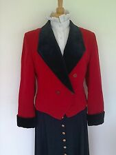 LADIES RED AND NAVY LEAD REIN JACKET SIZE 12
