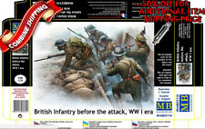 Master Box 35114 WWI British Infantry Before the Attack +Trench plastic kit 1/35