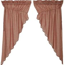 "Independence Prairie Curtains by VHC Brands - 63"" x 36"" Lined Curtain Set"