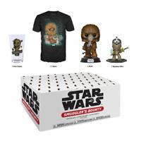 Funko Smuggler's Bounty New Sealed Box: Chewbacca Funko Pop Vinyl + S T-Shirt