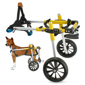 Large Dog Wheelchair for Handicapped Hind Legs, Light Aluminum Pet Wheelchair