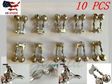 10 Pcs Fishing Twin Bells Bite Alarm Double Spring Clip-on for Sea Fishing Rod
