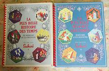 2 ANCIENS ALBUMS DE CHROMOS CHOCOLAT SUCHARD COMPLET - ANNEES 1956 et 1958