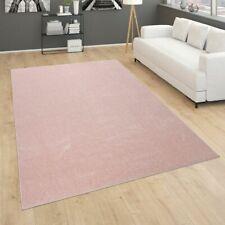 Teppich Für Wohnzimmer Einfarbig  Kurzflor Schlicht Und Modern, In Rosa