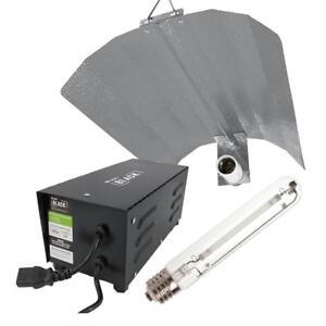 Lumii Black 600W Metal Magnetic Vented Ballast Grow Light Kit Hydroponics