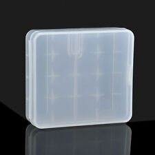 Portable Hard Plastic Battery Case Holder Storage Box 4x18650 Batteries Ecev
