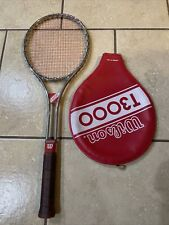 Nice Vintage Wilson  Tennis Raquet  Racket  T3000 With cover  Excellent 4-1/2