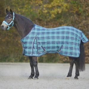Outdoordecke Comfort 200 g türkis/nachtblau kariert