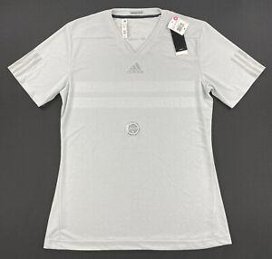 Adidas Mens ClimaChill Shirt Barricade Short Sleeve Grey Size Medium