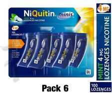 NiQuitin Minis Mint Lozenges – 4 mg of  100 Minis Lozenges – 6 Pack May-2022