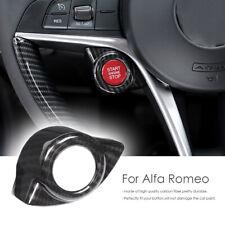 For Alfa Romeo Giulia Stelvio 2017 18 Carbon Fiber Start Stop Engine Button Trim