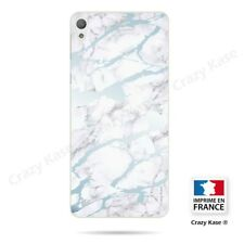 Case for sony xperia e5 blue marble effect flexible