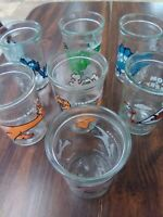 7 Welches jelly glasses, good condition, no chips