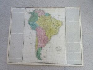 Map of South America, from Lavoisne's Historical Atlas, 1820, Carey, handcolored