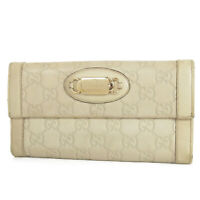 Auth GUCCI GG Guccissima Leather Double Snap Long Bifold Wallet Purse 18325bkac