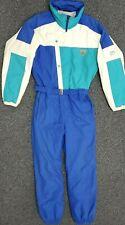 VIntage Fera Entrant Blue Color Block One Piece Ski Snowboard Snow Suit Men M