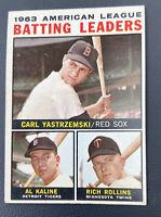 1964 Topps #8 1963 AL Batting Leaders - Carl Yastrzemski Al Kaline, Rich Rollins