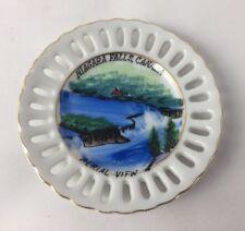"""Aerial View Vintage Collectible Souvenir Plate, Niagara Falls, Canada 4"""""""