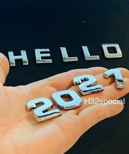 Chrome 3D Self-adhesive Letter number car badge emblem sticker for Home & Auto