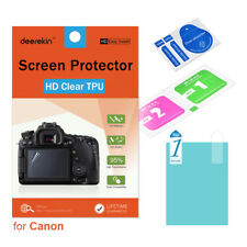 HD TPU Screen Protector w/ Top LCD Film for Canon EOS 760D 8000D Rebel T6s