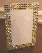 BLING PICTURE FRAME 4 X 6 WEDDING GOLD RHINESTONE LOOK TABLE NUMBER DISPLAY