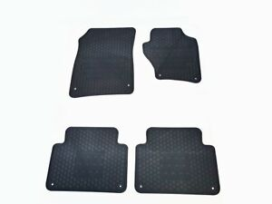 Rugged Rubber Floor Mats Tailored for Audi Q7 4L 08-15 OEM Shape Odouless