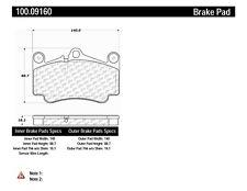 Disc Brake Pad Set-Carrera 4 Front Centric 100.09160 fits 05-07 Porsche 911