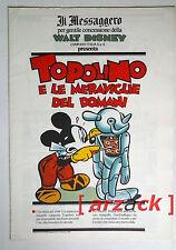 TOPOLINO supplemento a IL MESSAGGERO Topolino e le meraviglie del domani 17/2/90