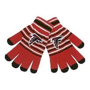 Atlanta Falcons Gloves Acrylic Stripe Knit Sports Logo Winter NEW Texting Tips