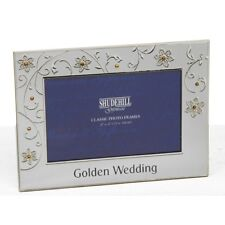 Golden Wedding Anniversary Petal Photo Frame 50th Gift