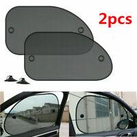 2pc Auto Car Side Window Sunshade Sun Visor Cover Mesh Shield UV Block Protector