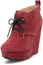 KOOLABURRA Katelyn 21 [ Size 35/36 39 40 41] Suede Ankle Boots Red New