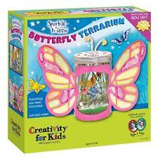 NEW Butterfly Terrarium Creativity for Kids Sparkle N Grow Chia Wheat Grass Seed