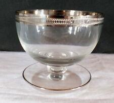 baguier cristal bordure argentée gravée coupelle