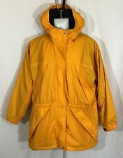 DKNY ACTIVE Jacket Fleece Lined Vintage Yellow w Black Size M