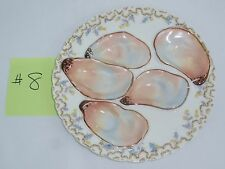 HAVILAND and Co. LIMOGES Antique Scalloped Oyster Plate 5 Wells Thistles,