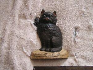Antique Cast Iron Cat Kitty Door Stopper