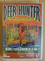 NEW Deer Hunter 1 & 2 Games PC Interactive Hunting experience Classic Collection