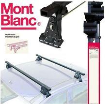 Mont Blanc Roof Rack Cross Bars fits Mazda 3 - 5 Door Hatch 2009 onwards