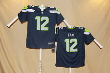 #12 FAN  Seattle Seahawks NIKE Game JERSEY Youth Large  NWT $70 retail  bl