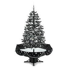 Künstlicher Weihnachtsbaum 180 cm LED beleuchtet schneiender Lichter Tannenbaum